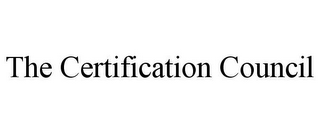 mark for THE CERTIFICATION COUNCIL, trademark #85596261