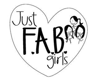 mark for JUST F.A.B GIRLS, trademark #85596353