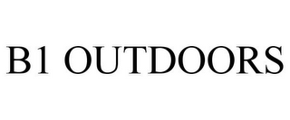 mark for B1 OUTDOORS, trademark #85596622