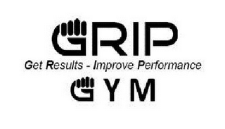 mark for GRIP GYM GET RESULTS IMPROVE PERFORMANCE, trademark #85596733