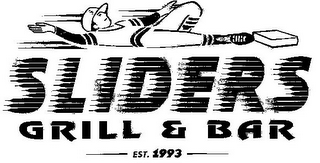 mark for SLIDERS GRILL & BAR EST 1993, trademark #85597024