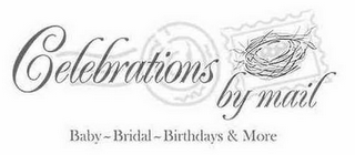 mark for CELEBRATIONS BY MAIL BABY- BRIDAL -BIRTHDAYS & MORE, trademark #85597849