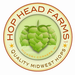 mark for HOP HEAD FARMS LLC QUALITY MIDWEST HOPS HICKORY CORNERS, MI, trademark #85599027