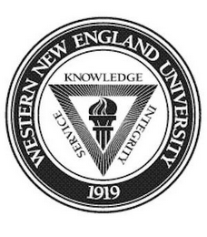 mark for WESTERN NEW ENGLAND UNIVERSITY 1919 SERVICE KNOWLEDGE INTEGRITY, trademark #85599169