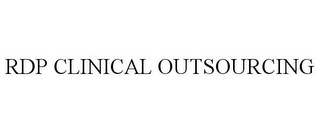 mark for RDP CLINICAL OUTSOURCING, trademark #85599354