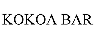 mark for KOKOA BAR, trademark #85599421