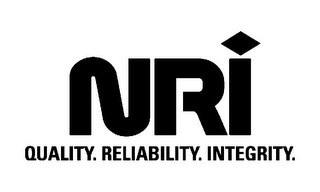 mark for NRI QUALITY. RELIABILITY. INTEGRITY, trademark #85599460