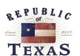 mark for REPUBLIC OF TEXAS SINCE 2011, trademark #85600014