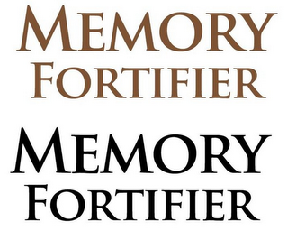 mark for MEMORY FORTIFIER MEMORY FORTIFIER, trademark #85600091