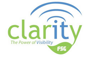mark for CLARITY THE POWER OF VISIBILITY FSG, trademark #85600800