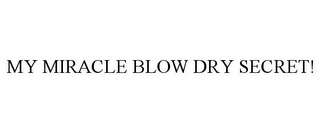 mark for MY MIRACLE BLOW DRY SECRET!, trademark #85601515