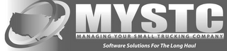 mark for MYSTC MANAGING YOUR SMALL TRUCKING COMPANY SOFTWARE SOLUTIONS FOR THE LONG HAUL, trademark #85602148