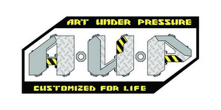 mark for AUP ART UNDER PRESSURE CUSTOMIZED FOR LIFE, trademark #85602528