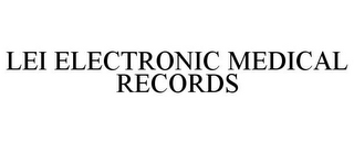 mark for LEI ELECTRONIC MEDICAL RECORDS, trademark #85602901