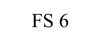 mark for FS 6, trademark #85603427