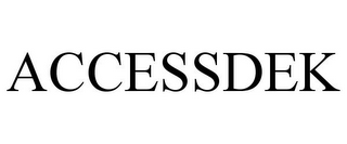 mark for ACCESSDEK, trademark #85603841