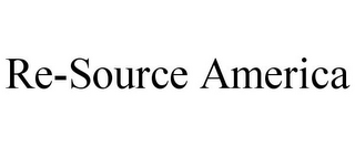 mark for RE-SOURCE AMERICA, trademark #85603880