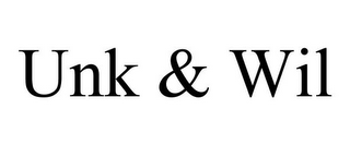 mark for UNK & WIL, trademark #85604292