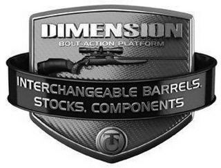 mark for DIMENSION BOLT-ACTION PLATFORM INTERCHANGEABLE BARRELS, STOCKS, COMPONENTS TC, trademark #85604929
