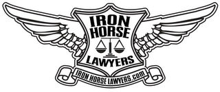 mark for IRON HORSE LAWYERS IRON HORSE LAWYERS.COM, trademark #85605181