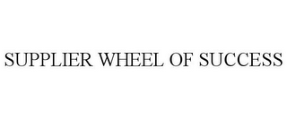 mark for SUPPLIER WHEEL OF SUCCESS, trademark #85605425