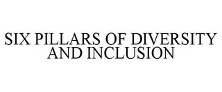 mark for SIX PILLARS OF DIVERSITY AND INCLUSION, trademark #85605522