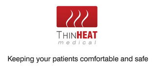mark for THIN HEAT M E D I C A L KEEPING YOUR PATIENTS COMFORTABLE AND SAFE, trademark #85606703