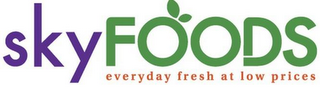 mark for SKYFOODS EVERYDAY FRESH AT LOW PRICES, trademark #85606779
