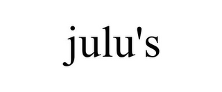 mark for JULU'S, trademark #85607327