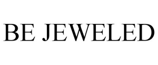 mark for BE JEWELED, trademark #85607563
