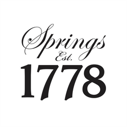 mark for SPRINGS EST. 1778, trademark #85608073