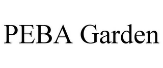 mark for PEBA GARDEN, trademark #85608372