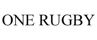 mark for ONE RUGBY, trademark #85608666