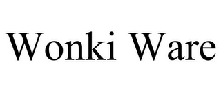 mark for WONKI WARE, trademark #85608730