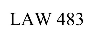 mark for LAW 483, trademark #85608799