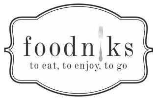 mark for FOODNIKS TO EAT, TO ENJOY, TO GO, trademark #85610235