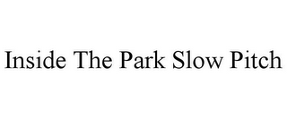 mark for INSIDE THE PARK SLOW PITCH, trademark #85611077