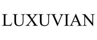 mark for LUXUVIAN, trademark #85611836