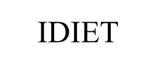 mark for IDIET, trademark #85611862