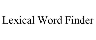 mark for LEXICAL WORD FINDER, trademark #85611955