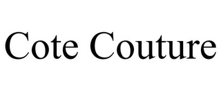 mark for COTE COUTURE, trademark #85612401