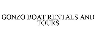 mark for GONZO BOAT RENTALS AND TOURS, trademark #85613593