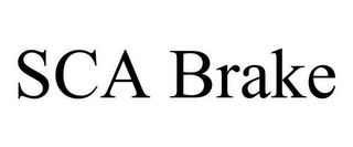 mark for SCA BRAKE, trademark #85614396
