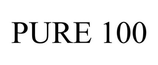 mark for PURE 100, trademark #85614561