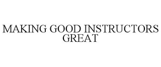mark for MAKING GOOD INSTRUCTORS GREAT, trademark #85615079