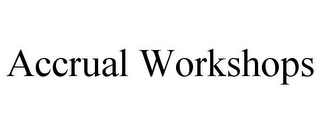 mark for ACCRUAL WORKSHOPS, trademark #85615506