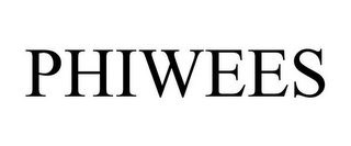 mark for PHIWEES, trademark #85615811