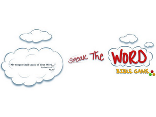 "mark for SPEAK THE WORD BIBLE GAME ""MY TONGUE SHALL SPEAK OF YOUR WORD..."" PSALM 119:172 NKJV, trademark #85615897"