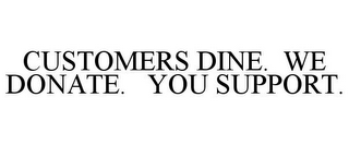 mark for CUSTOMERS DINE. WE DONATE. YOU SUPPORT., trademark #85616245