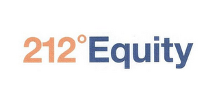 mark for 212º EQUITY, trademark #85618049